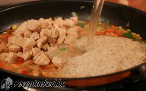 Villámgyors csirkés paella