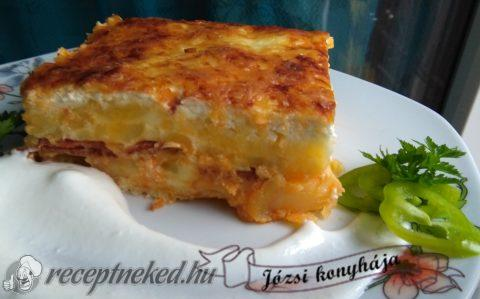 Rakott krumpli sajttal sütve