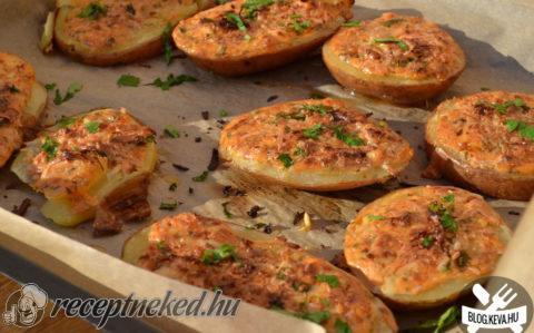 Tejfölös-sajtos burgonyaszelet