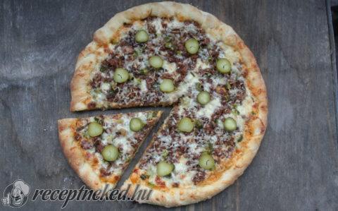 Sajtburger pizza