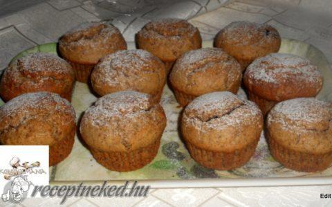 Diós,csokis muffin