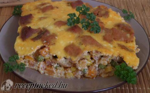 Tojásos-zöldséges hús