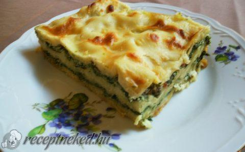 Spenótos-ricottás lasagne