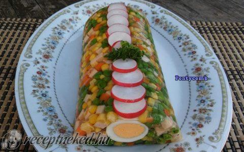 Aszpikos zöldségrolád