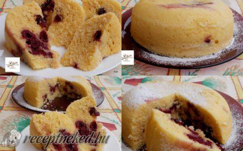 Joghurtos, meggyes sütemény