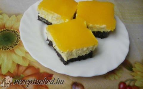 Túrós-barackos sütemény
