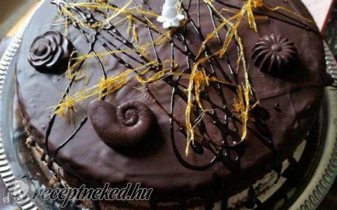 Narancsos-csokoládés torta