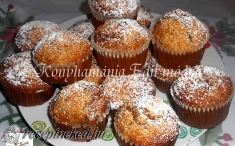 Banános, csokis muffin