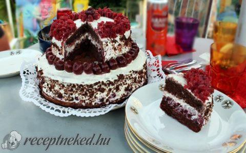 emeletes torta képek Feketeerdő emeletes torta recept Iluska konyhájából   Receptneked.hu emeletes torta képek