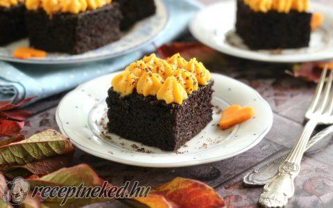 Csokoládés sütőtökös kocka