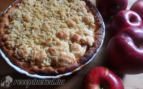 Holland morzsás, almás lepény