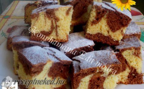 Mogyorókrémes, kakaós kevert sütemény
