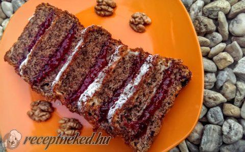 Pillekönnyű diós sütemény