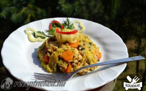Sáfrányos rizseshús