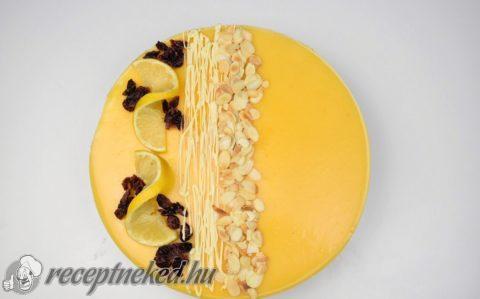 Citromos, fehér csokis mousse torta