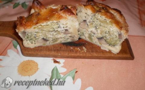 Brokkolis- gombás muffin
