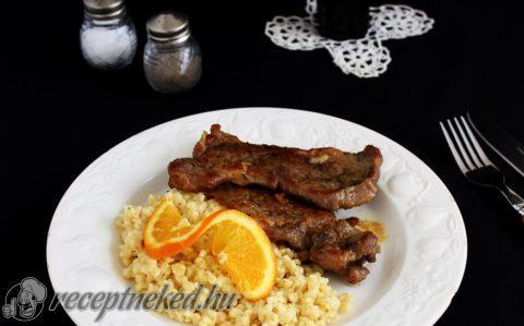 Sült hús narancsos tarhonya rizottóval