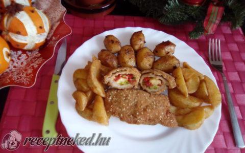 Karácsonyi göngyölt karaj