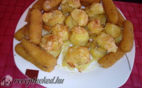 Sajtos krumpli muffin sütőben