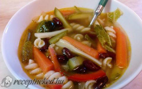 Minestrone leves savanykásan