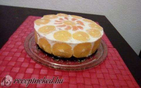 Narancsos zselé torta