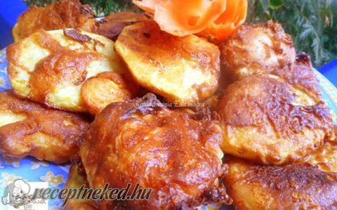Krumpli szeletek sajtos, kefires bundában