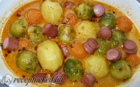 Gömbölyű frankfurti leves
