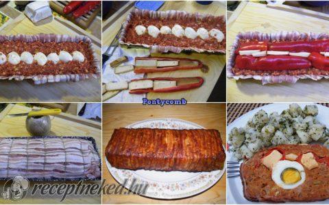 Sajttal és paprikával töltött stefánia bacon köntösben
