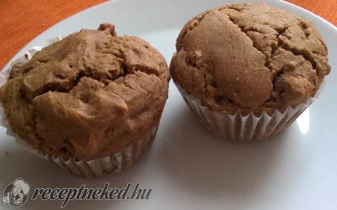 Mazsolás-diós muffin