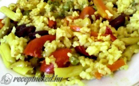 Zöldséges paella egyszerűen