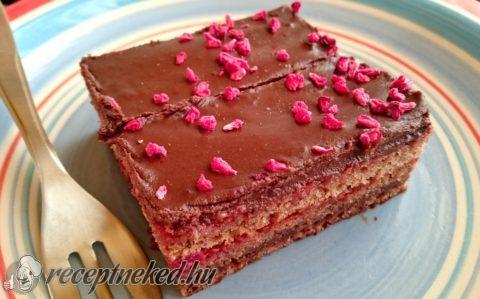 Kajszis-málnás csokoládékocka