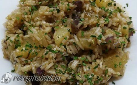 Háromhagymás-ananászos rizs