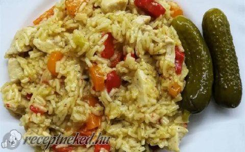 Nyárias rizseshús