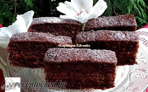 Csokoládés szelet