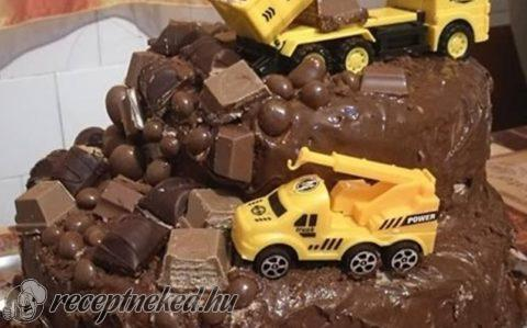 Csokoládés, autós torta
