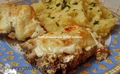 Tejfölös-sajtos hús szeletek