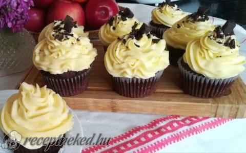 Vanília krémes muffin