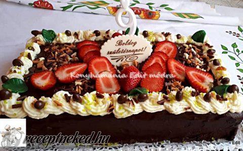 Csokoládétorta párizsi krémmel