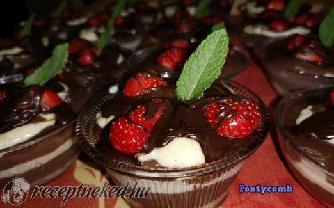 Tejberizses-csokis kehely