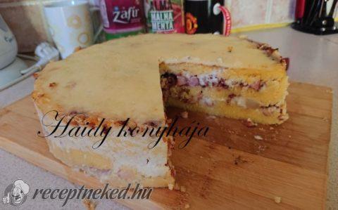 Túrós puliszka torta