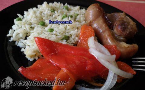 Marinált sült paprika saláta
