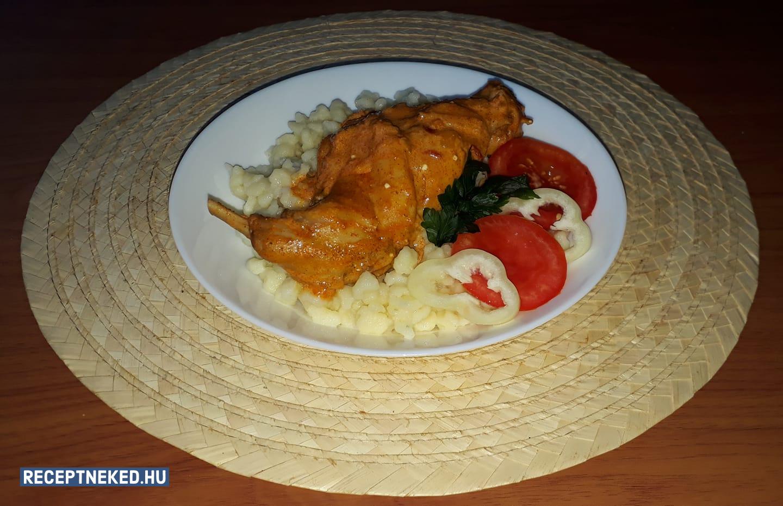 Nyúlpaprikás nokedlivel recept Sikli Timi konyhájából