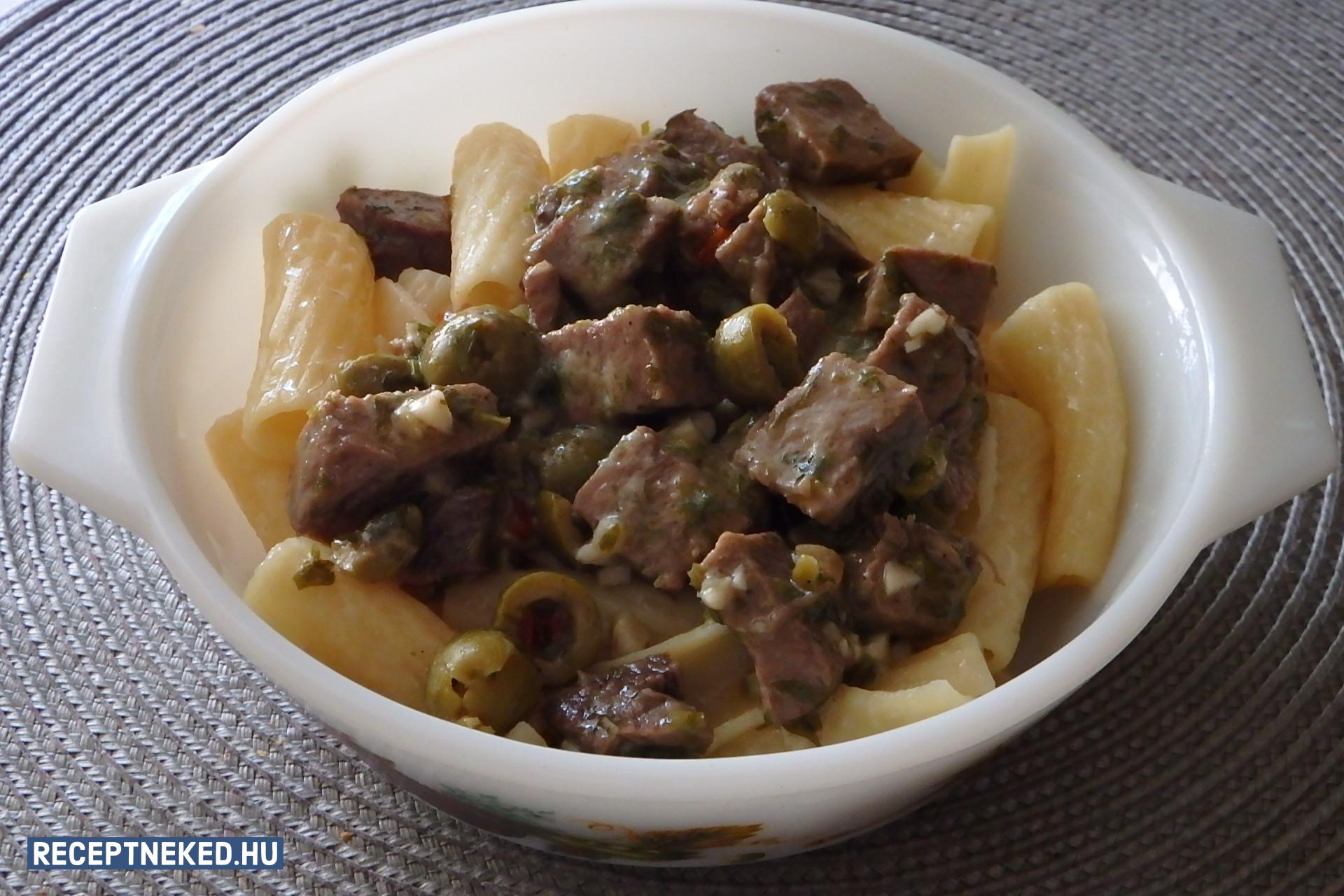Nyelv olajbogyóval Nijinsky Vaszlav módra recept Kalla58 konyhájából